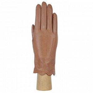 Перчатки, натуральная кожа, Fabretti 12.29-22s dark beige