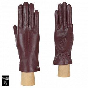 Перчатки, натуральная кожа, Fabretti S1.41-8s bordo