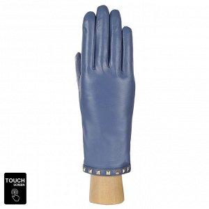 Перчатки, натуральная кожа, Fabretti S1.40-11 l.blue