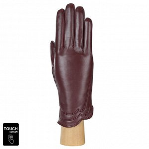 Перчатки, натуральная кожа, Fabretti S1.39-8 bordo