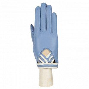 Перчатки, кожа, FABRETTI 12.63-24s l.blue