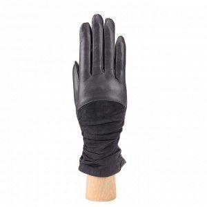 Перчатки, натуральная кожа, Fabretti 9.10-9 grey