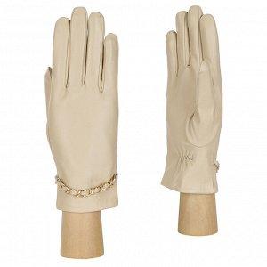 Перчатки, натуральная кожа, Fabretti 15.35-3s beige