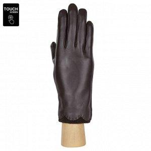 Перчатки, натуральная кожа, Fabretti S1.37-2 chocolat