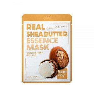 Farm Stay Real Shea Butter Essence Mask Тканевая маска с маслом ши, 23 мл