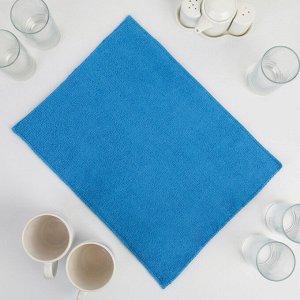 Коврик для сушки посуды 30?40 см, микрофибра, цвет голубой