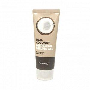 Farmstay Real Coconut Deep Clear Peeling Gel  Пиллинг-гель для глубокого очищения с кокосом, 100 мл