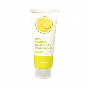 Farmstay Real Lemon Deep Clear Peeling Gel Пиллинг-гель для глубокого очищения с лимоном, 100 мл