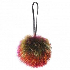 001-multi FABRETTI Подвеска для сумок жен. 100% натуральный мех енота