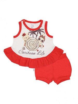 Комплект (майка + шорты) для девочек
