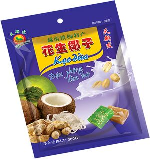 Ириски кокосовые с арахисом/кунжутом 300 гр