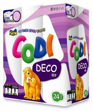 "Особомягкая туалетная бумага ""Codi Pure Deco Soft&Strong"" (двухслойная, с тиснёным рисунком) 45 м *24 рулона / 3"