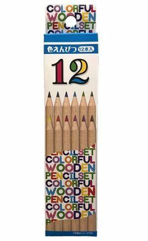 Набор цветных карандашей 12шт 17,5см.