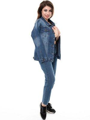 Куртка джинсовая, на пуговицах-клепках. рр 5XL