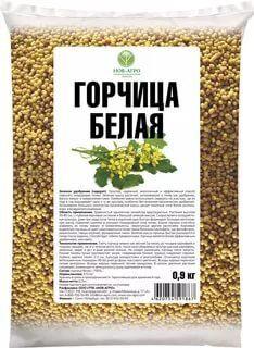 Горчица белая 0,9кг НОВ АГРО сидерат (зеленое удобрение) (1уп/30шт)