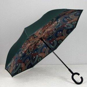 Зонт жен наоборот мех R56 8спиц П/Э Сочный цвет RM 7330 руч кольцо