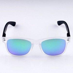 """Очки солнцезащитные """"Бель-Мар"""", пружинные дужки, uv400, 14х15х5 см, линза 5х5.5 см, светлые 470360"""