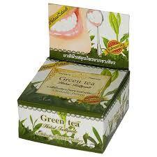 Натуральная зубная паста зеленый чай