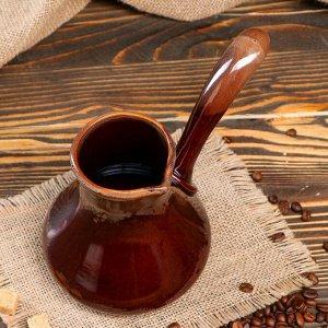 Турка, коричневая, 0,5 л, микс