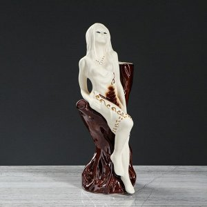 "Ваза-статуэтка ""Элен"", под шамот, 35 см, керамика"