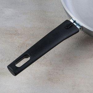 Сковорода, d=26 см, с крышкой и съёмной ручкой