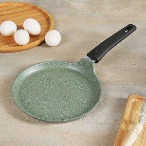 Сковорода блинная, d=20 см, фисташковый мрамор