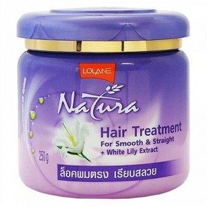 """Маска для волос с экстрактом белой лилии """"Гладкие и Прямые"""" LOLANE NATURA 250 г"""