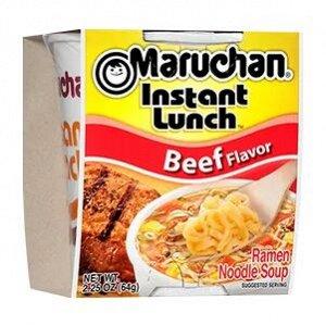 Лапша быстрого приготовления Маручан Инстант Ланч со вкусом говядины - 64g