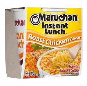 Лапша быстрого приготовления Маручан Инстант Ланч со вкусом жаренной курицы - 64g