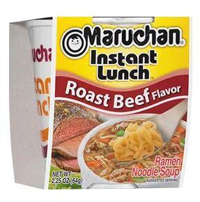 Лапша быстрого приготовления Маручан Инстант Ланч со вкусом жаренной говядины - 64g