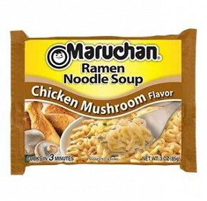 Лапша быстрого приготовления Маручан Рамен, со вкусом курицы и грибов - 85g.
