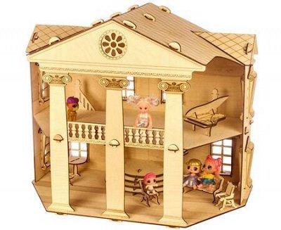 Кукольные домики и детская мебель, румбоксы и конструкторы  — Деревянные домики-конструкторы. СНИЖЕНИЕ ЦЕН! — Деревянные игрушки