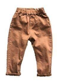 1970 (100 см ) Штаны для мальчиков (коричневые с поясом)