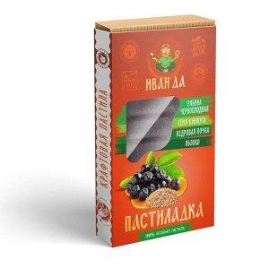 Пастиладка Черноплодная рябина с почками кедра и обжаренным семенем кунжута, 50г