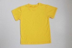 Футболка однотонная желтого цвета (супрем)