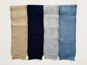 Детский коричневый вязаный шарф