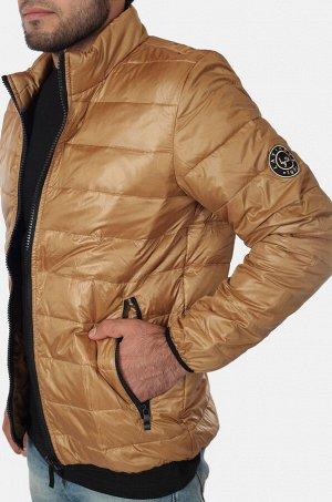 Светло-коричневая мужская куртка Layinsck. Классная молодежная модель для прохладного межсезонья. №634 ОСТАТКИ СЛАДКИ!!!!