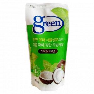 883309 Средство для мытья посуды «Травы и кокос» (на натуральной основе)  300 ml