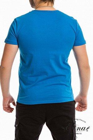 Футболка Мужская футболка выполнена из хлопковой ткани. Круглый вырез горловины, короткий рукав. Силуэт облегающий, спереди нанесён принт. Размерный ряд: 44-62. Состав Хлопок 100% Артикул 11935П Базов