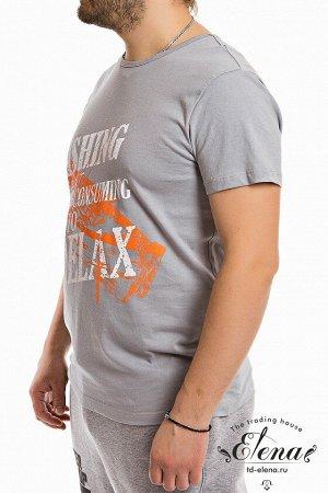 Футболка Мужская футболка выполнена из хлопковой ткани. Круглый вырез горловины, короткий рукав. Силуэт облегающий, спереди нанесён принт. Размерный ряд: 44-62. Состав Хлопок 100% Артикул 11936П Базов