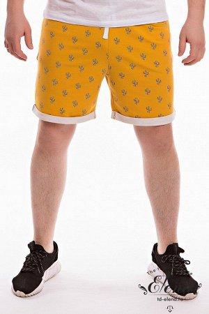 Шорты Мужские шорты из футер петли с лайкрой. Пояс притачной со шлевками, через люверсы продернут широкий шнур. В шортах три кармана: два боковых и прорезной карман сзади. По низу отворачиваются манже