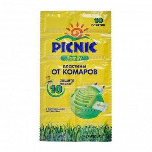 """Пластины от комаров """"Picnic Family"""", с растительными экстрактами, 10 шт"""