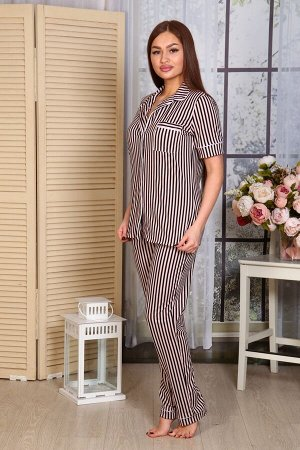 Пижама Ткань: Кулирка; Состав: 100% хлопок; Размеры: 44-54; Цвет: Полоса
