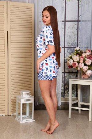 Пижама Ткань: Кулирка; Состав: 100% хлопок; Размеры: 44, 46, 48, 50, 52, 54