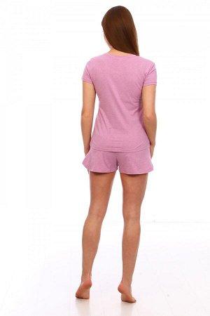 Костюм Ткань: Кулирка; Состав: 100% хлопок; Размеры: 42, 44, 46, 48, 50, 52; Цвет: Розовый