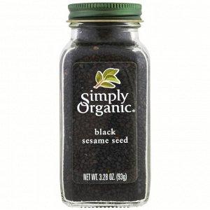 Simply Organic, Органическое, черное семя кунжута, 3,28 унции (93 г)