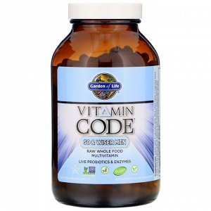 Garden of Life, Vitamin Code, 50 & Wiser Men, 240 Vegetarian Capsules