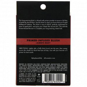 E.L.F., Primer-Infused Blush, румяна с праймером, розовый, 10 г (0,35 унции)