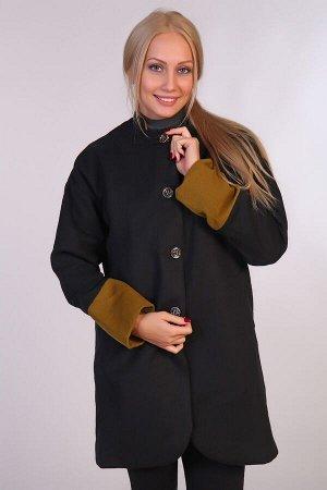 Пальто воротник-стойка JK-067 черная