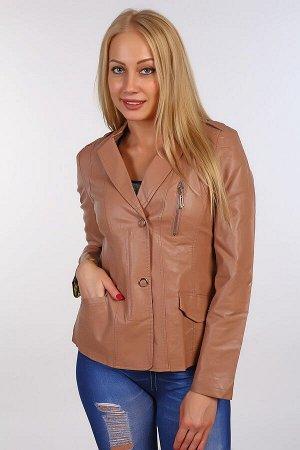 Кожаная куртка BN-64 светло коричневая